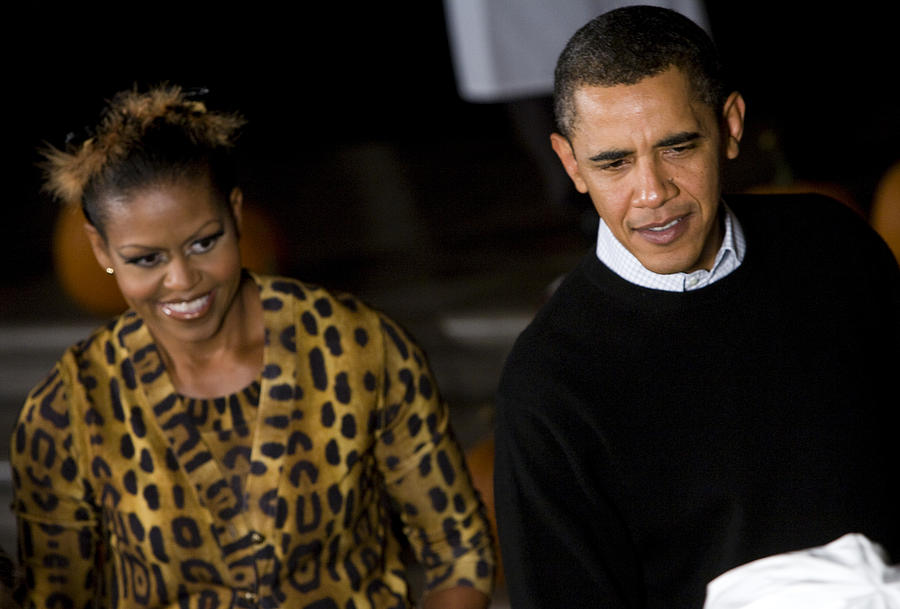 Barack Obama Photograph - The President And First Lady by JP Tripp
