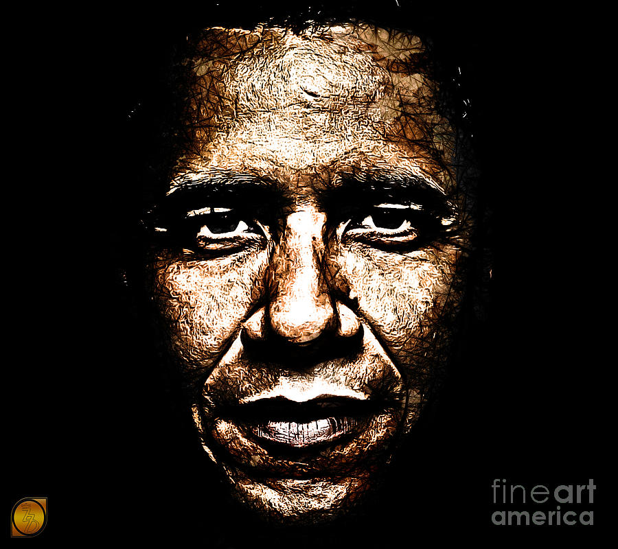 Barack Obama Digital Art - The President by The DigArtisT