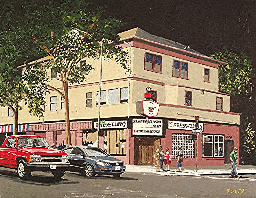 Sacramento Painting - The Press Club by Paul Guyer
