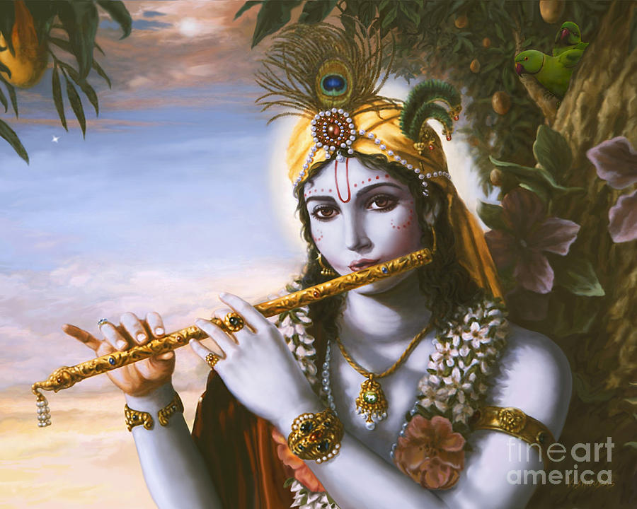 The Primordial Flute Player by Vishnudas Art