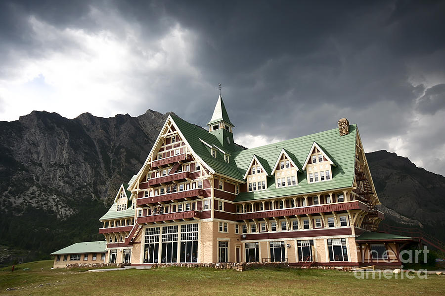 Historic Site Photograph - The Prince Of Wales Hotel Waterton Lakes Np  by Teresa Zieba