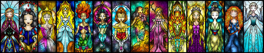Princess Digital Art - The Princesses by Mandie Manzano
