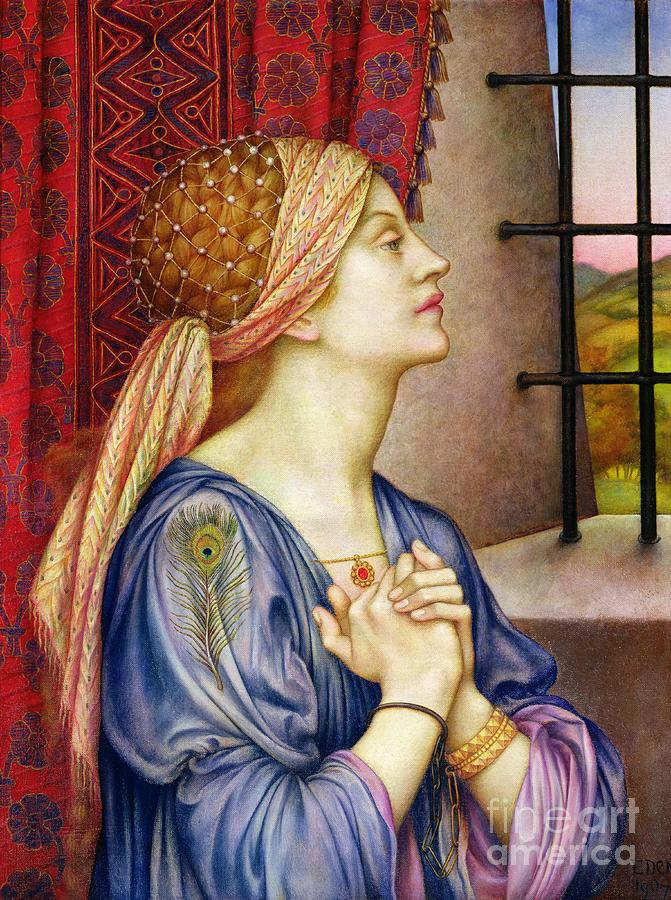 Bohemian Painting - The Prisoner by Evelyn De Morgan
