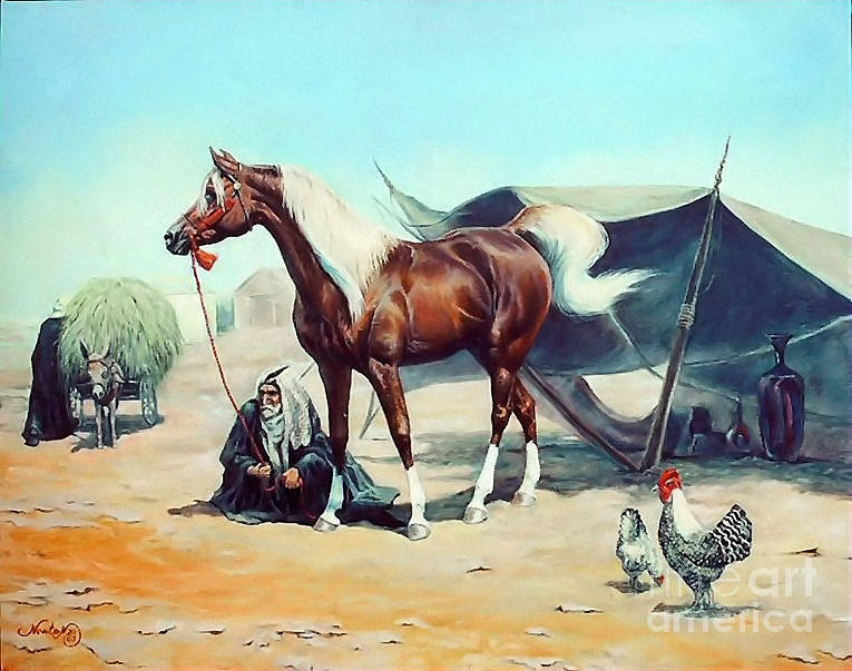 Arabian Painting - The Prize by Jeanne Newton Schoborg