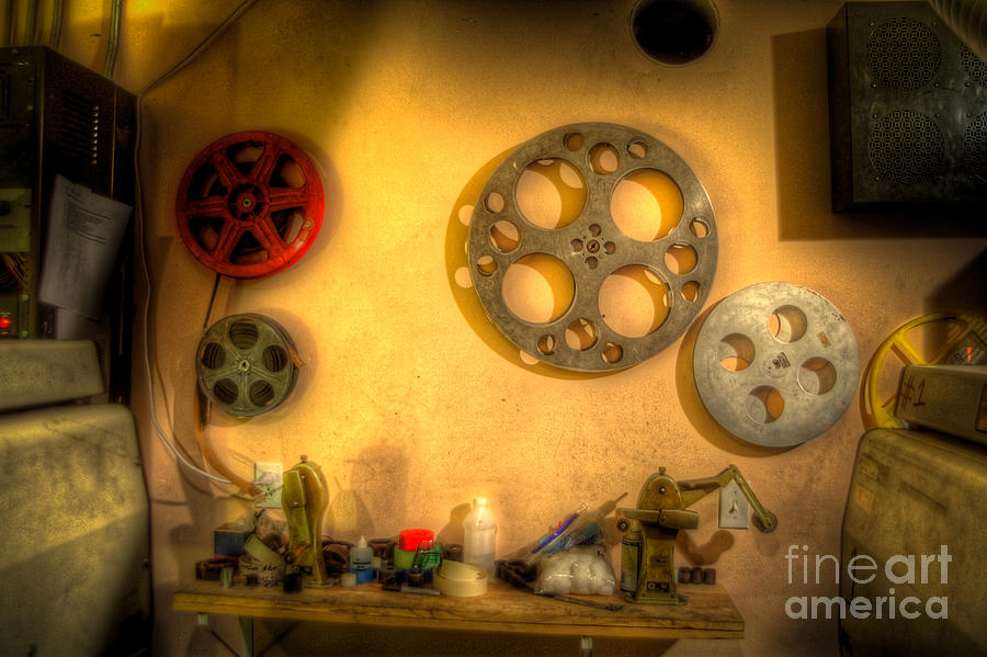 Hdr Photograph - The Projection Room 4675 by Timothy Bischoff