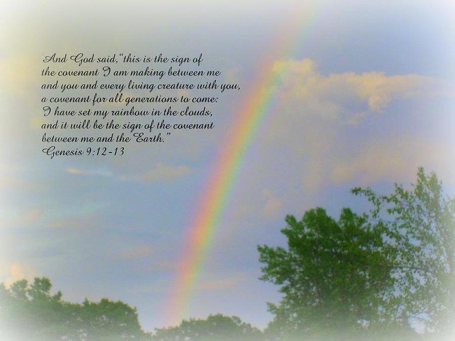 Rainbow Photograph - The Promise by Terri K Designs