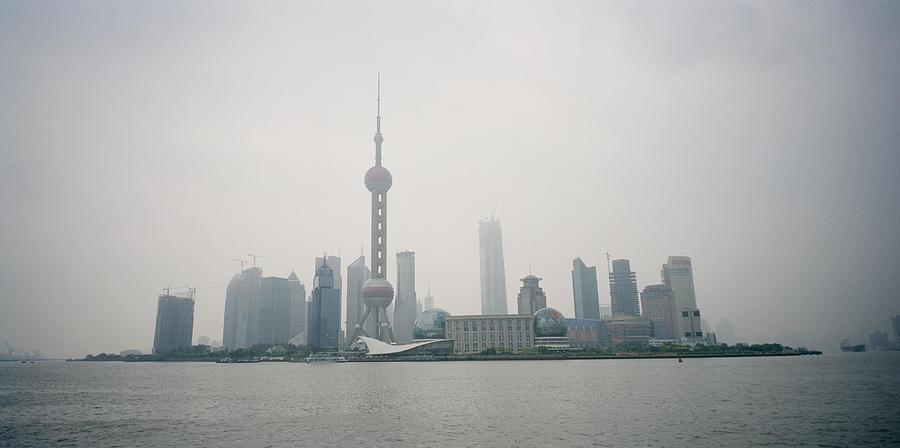 Shanghai Skyline Photograph - The Pudong by Shaun Higson