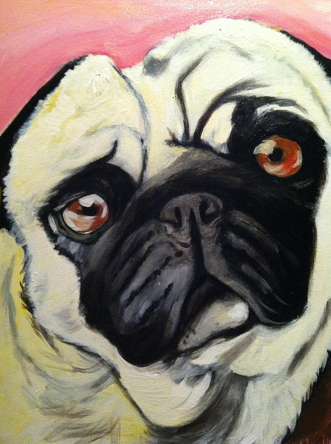 Pugs Painting - The Pug by Melissa Bollen