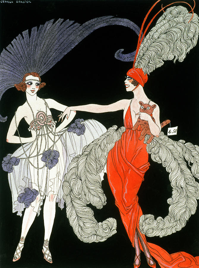 Female Painting - The Purchase  by Georges Barbier