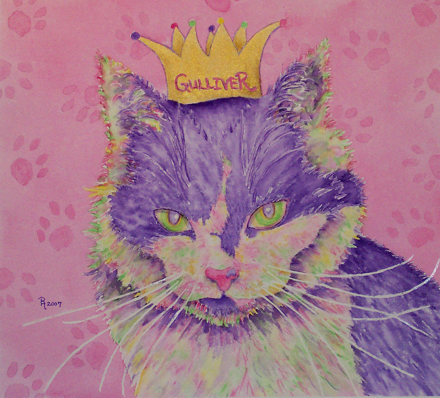 Cat Painting - The Queen by Rhonda Leonard
