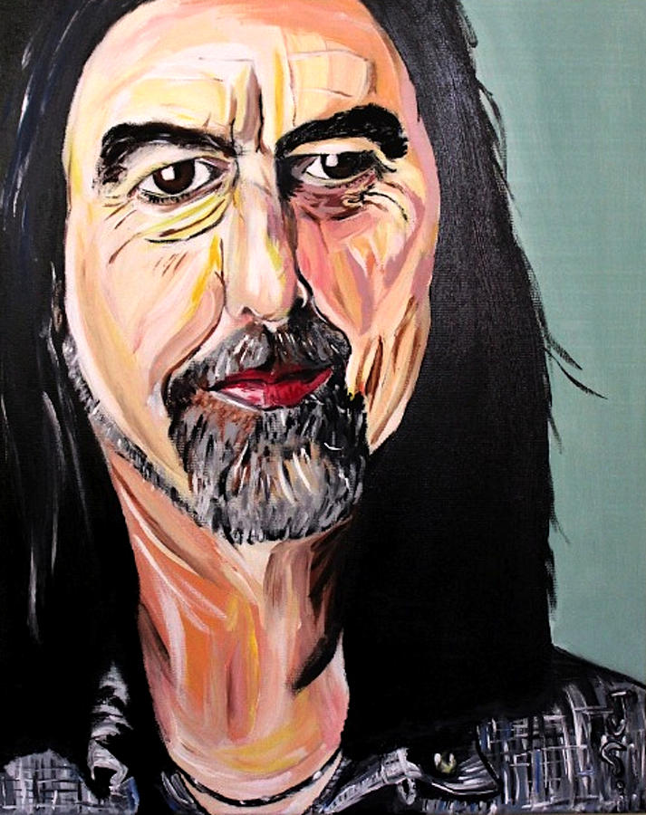 George Harrison Painting - The Quiet Beatle by James Santarella