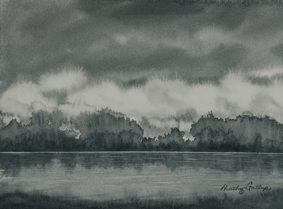 Canadian Landscape Painting - The Quiet Before The Storm by Heather Gallup
