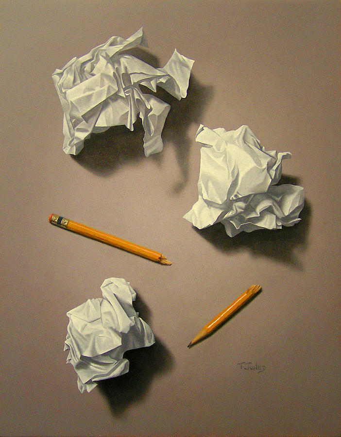 Paper Painting - The Quiet Muse by Timothy Jones