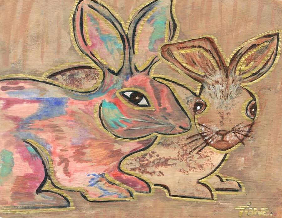 The Rabbit Hole  Painting by Tish Eggleston