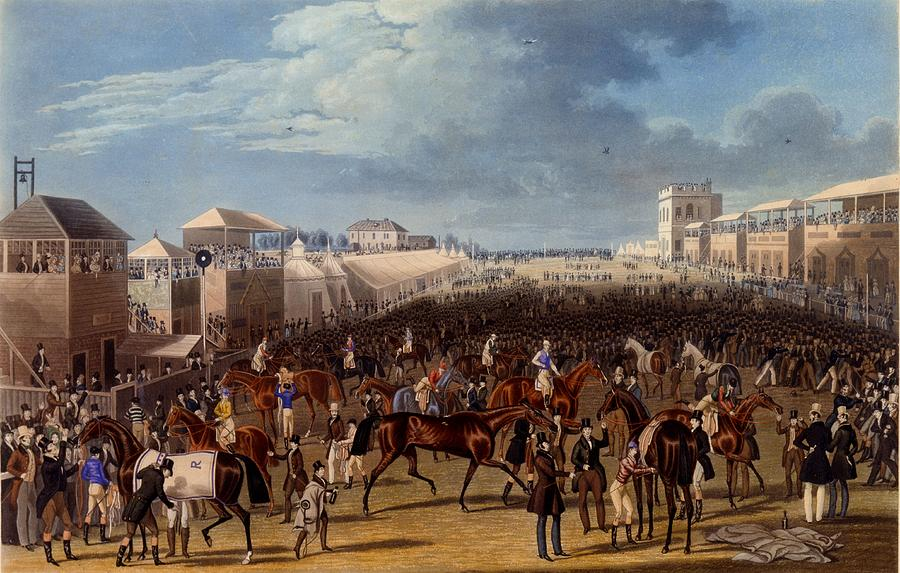 Racing Drawing - The Race Over, Print Made By Charles by James Pollard