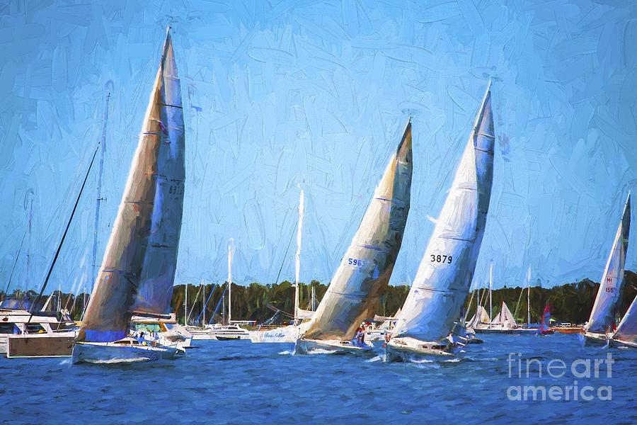 Yacht Race Photograph - The Race by Sheila Smart Fine Art Photography