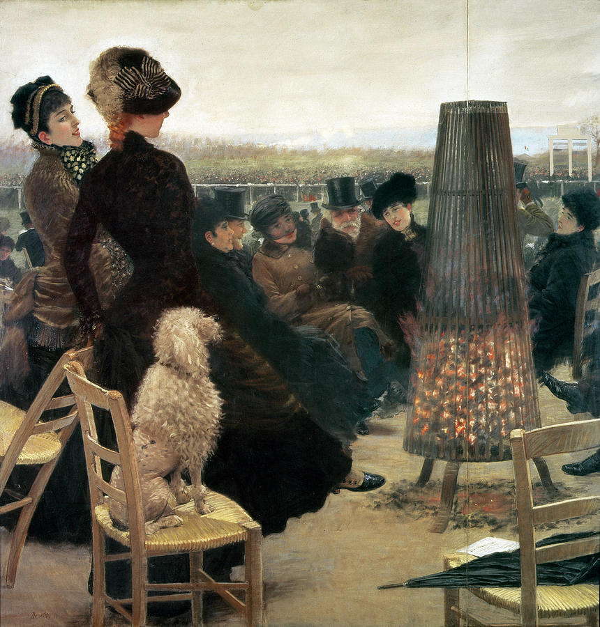 Horse Painting - The Races At Auteuil by Giuseppe Nittis