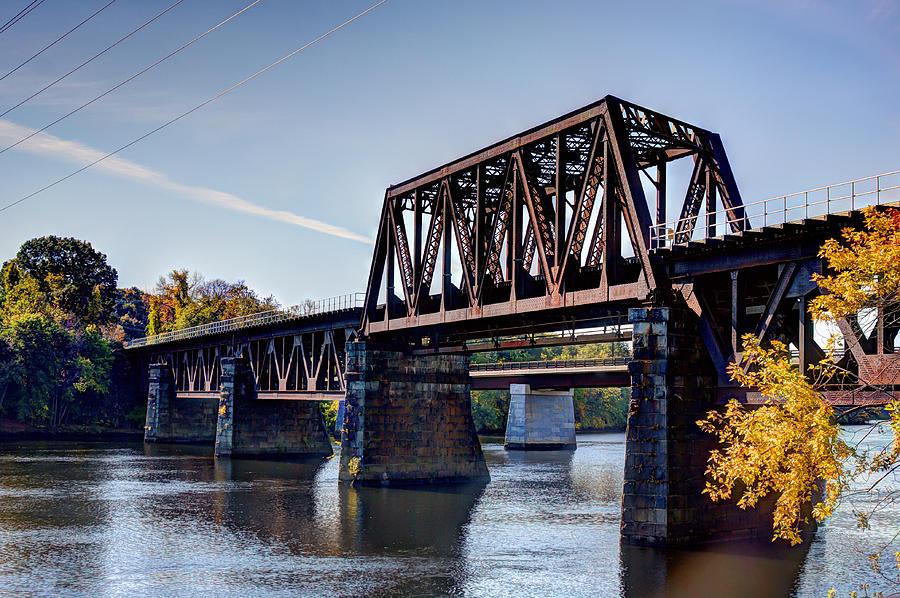 Haverhill Photograph - The Railroad Bridge over Merrimack River by Laura Duhaime