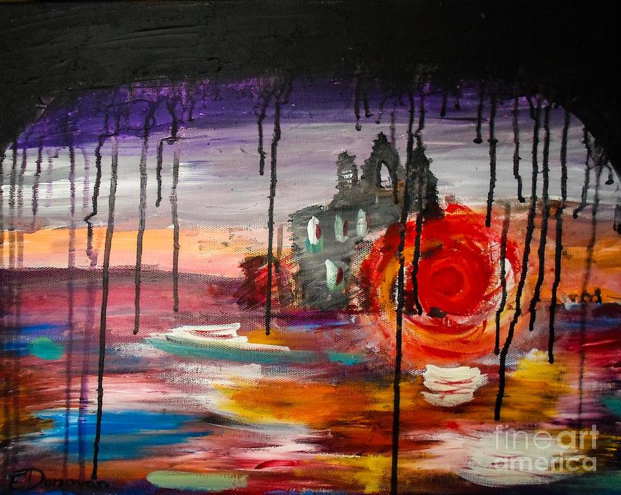 Black Cloud Painting - The Rain Cometh by Eliza Donovan