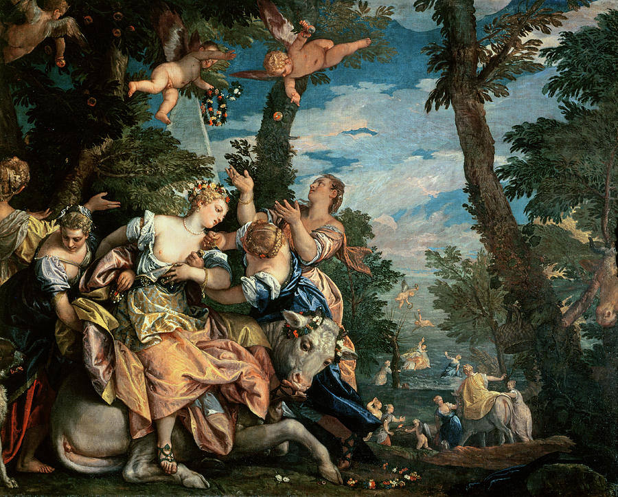Putti Painting - The Rape Of Europa by Veronese