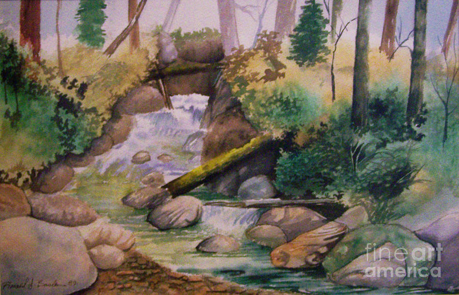 The Rapids Painting by Ron Bowles