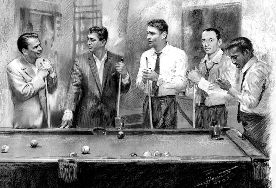 The Rat Pack Drawing By Viola El