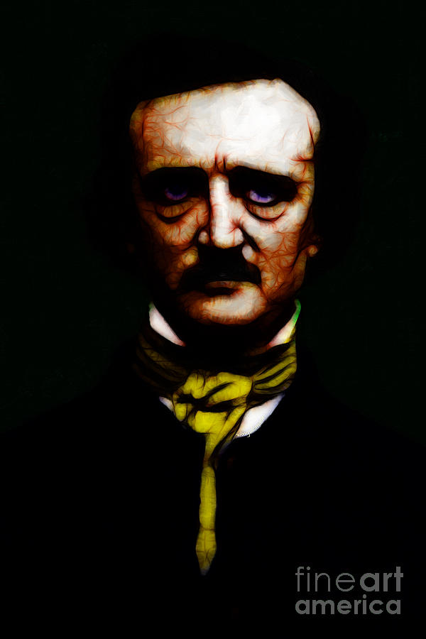 Edgar Photograph - The Raven - Edgar Allan Poe by Wingsdomain Art and Photography