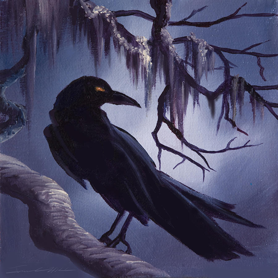 James C. Hill Painting - The Raven by James Christopher Hill