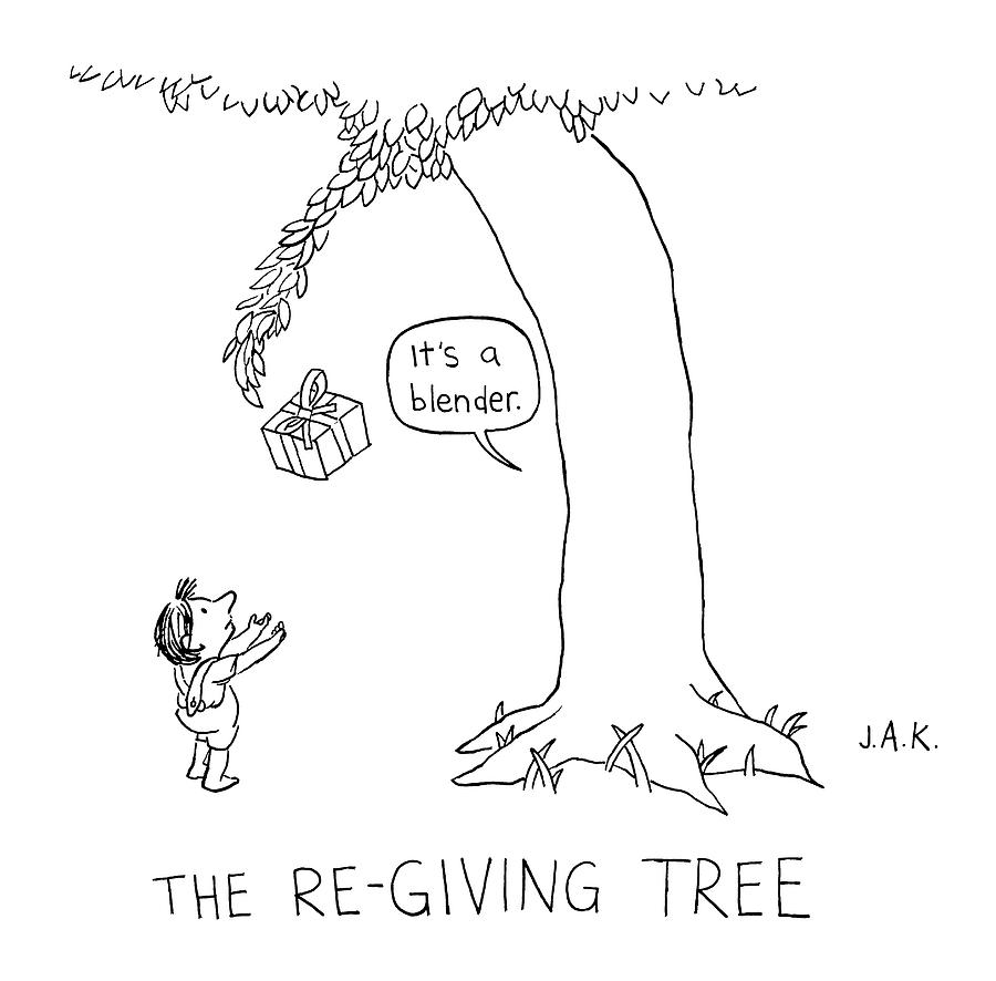 The Re-giving Tree: A Tree Offers A Child Drawing by Jason ...