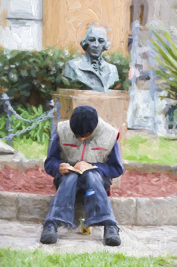 Man Reading Photograph - The Reader by Sheila Smart Fine Art Photography