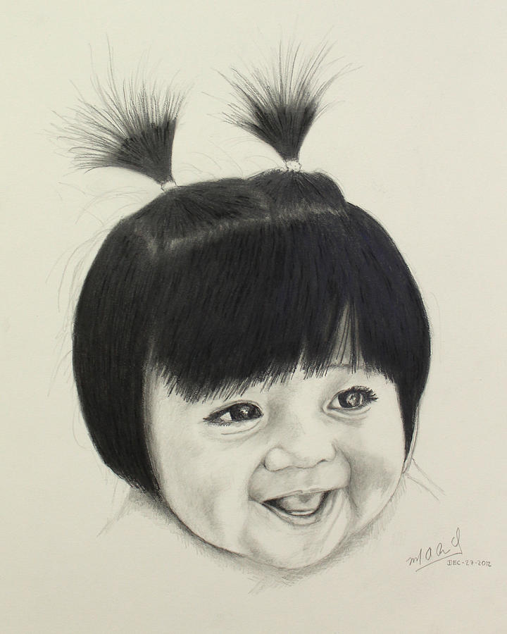 Child Drawing - The Real Boo - Finished by Miguel Rodriguez