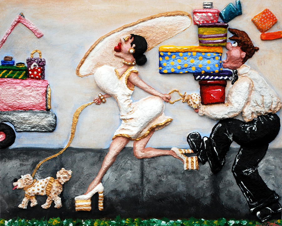 Shopping Painting - The Real Purpose Of A Man by Alison  Galvan
