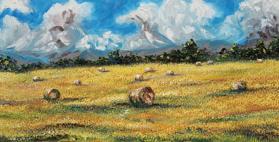 Landscape. Field Painting - The Reaping by Meaghan Troup