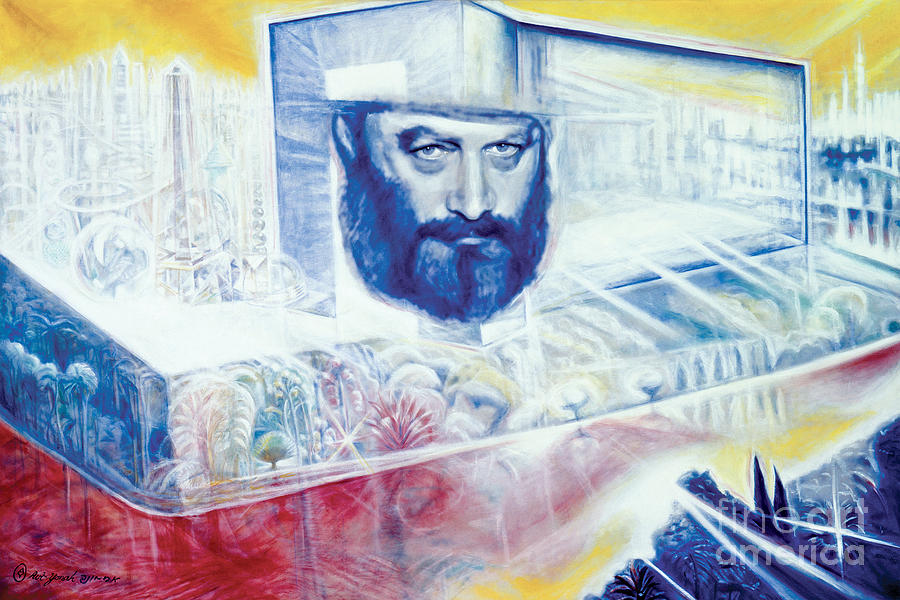 Lubavitcher Rebbe Painting - The Rebbe Resurrected by Yael Avi-Yonah