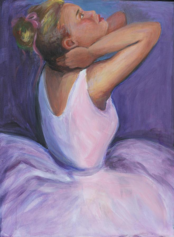 Ballerina Recitals Dancer Painting - The Recital by Gwen Carroll