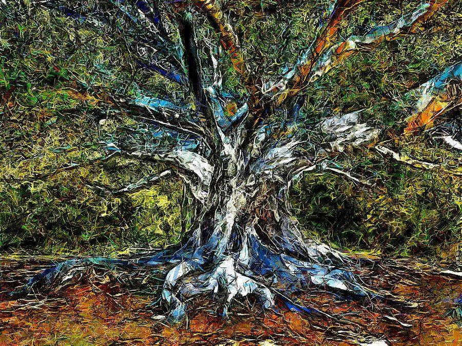 Tree Digital Art - The Recycling by Cary Shapiro
