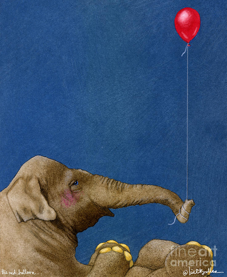 Will Bullas Painting - The Red Balloon... by Will Bullas