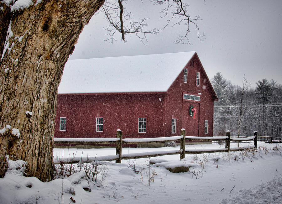 Landscape Photograph - The Red Barn by Diana Nault
