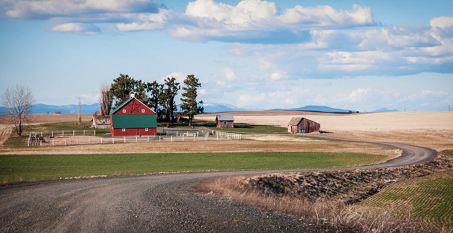 Landscape Photograph - The Red Barn by Stephen Beaumont