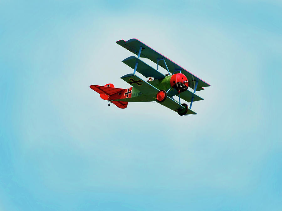 Model Plane Photograph - The Red Baron by Thomas Young
