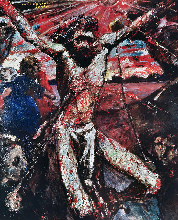 Crucifixion Painting - The Red Christ by Lovis Corinth