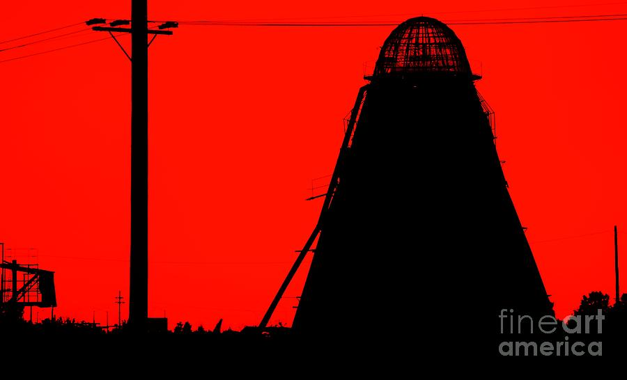 Black Photograph - The Red Mill by Jessica Shelton