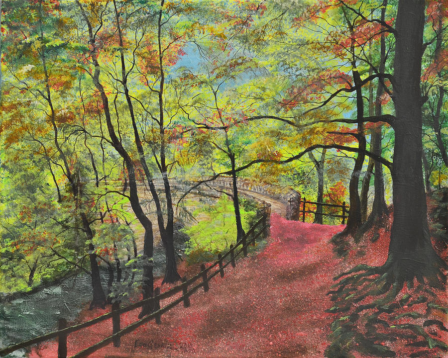 Red Painting - The Red Path by Leo Gehrtz