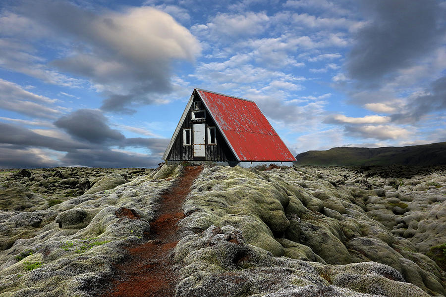 Iceland Photograph - The Red Path To The Red Roof by Michel Romaggi