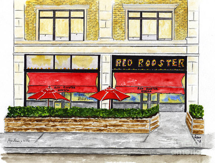 The Red Rooster Painting - The Red Rooster by AFineLyne