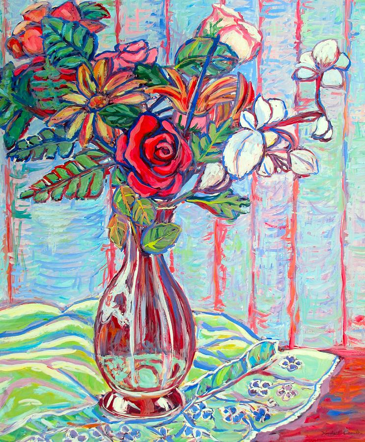 Still Life Painting - The Red Rose by Kendall Kessler