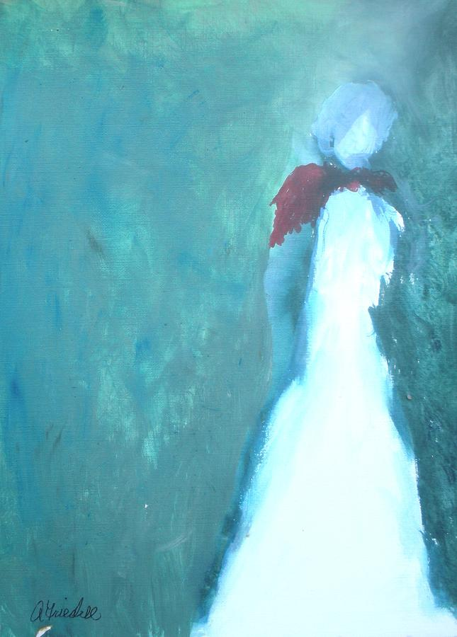 People Painting - The Red Scarf by Andrea Friedell