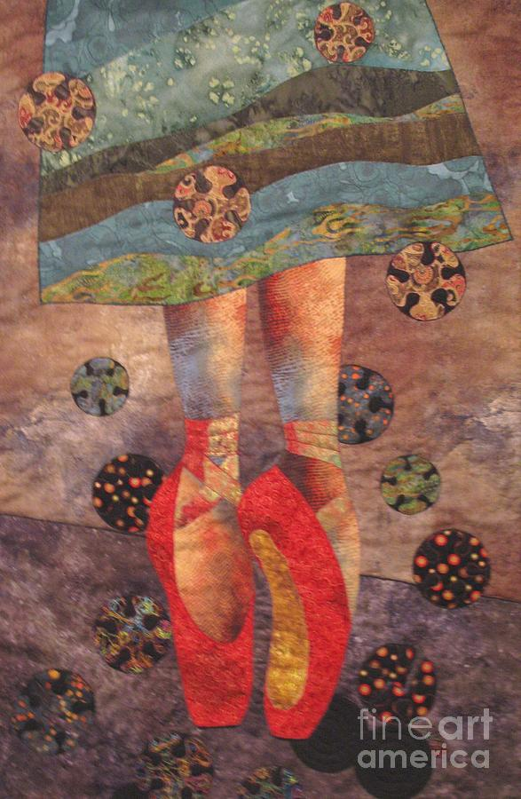 Fairy Tales Tapestry - Textile - The Red Shoes by Lynda K Boardman