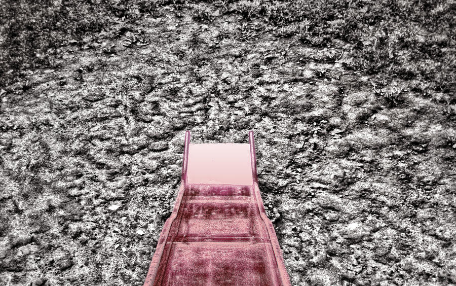 Red Slide Photograph - Red Slide by Kellice Swaggerty
