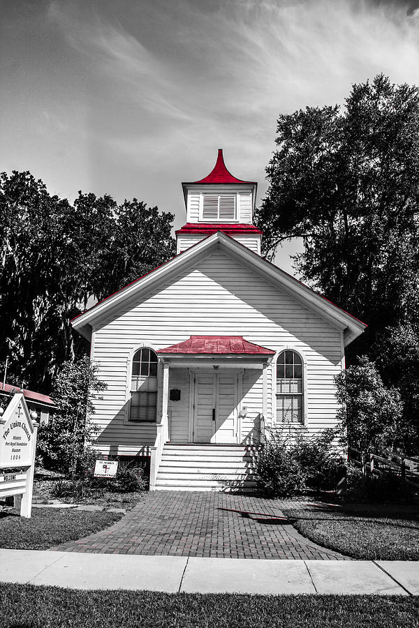 Church Photograph - The Red Steeple by Steven  Taylor